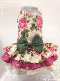 Pink+Roses+Dress+by+FourFootedFashions+on+Etsy,+$20.00