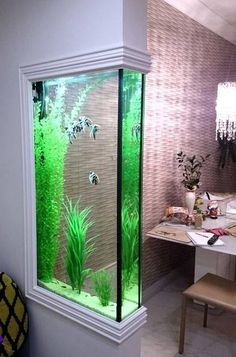 Very unusual and really cool. I want an aquarium (had them growing up) but don't really have a place to put one. This would solve that problem.