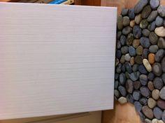 Tile for master bath -- floor is Dark Ocean Pebble Tile from StrataStones.net and the shower surround tile is Long Island Magnolia White 16.25x12.25 from Ceramic Tile Design in San Rafael
