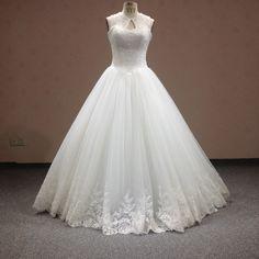 Find More Wedding Dresses Information about 2016 New Halter Key Hole A Line…