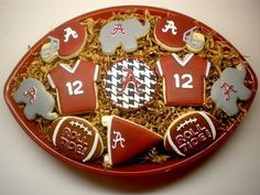 alabama crimson tide cookies