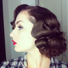 Vintage hair dress 1930s..achieved then with rags,pincurls or Marcel Wave irons....