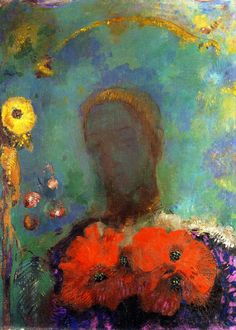 Odilon Redon: Girl with Poppies (1898)