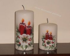 fusion candle with candles! Candle Art, Candle Lanterns, Pillar Candles, Candleholders, 2 Advent, Mason Jar Candle Holders, Beautiful Candles, Bottle Painting, Christmas Crafts