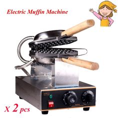 105.36$  Buy here - http://alikbn.worldwells.pw/go.php?t=32670677381 - 2pcs/lot Popular Electric Waffle Maker Pan Muffin Machine 110V/220V Non-stick Waffle Snack Maker FY-6 105.36$