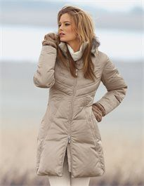 Quilted down jacket with fur trim Finiture In Pelliccia 4e96d7c120f