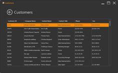 WinForms Metro App - Grid Control