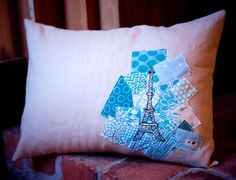 Love the idea of this pillow.  Would do in different colors with different image, but love the idea of it.