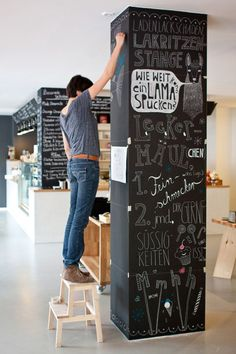 Chalkboard Pillar - for attendies to sign and graffiti