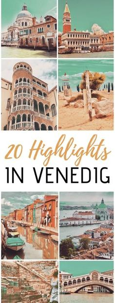 Sightseeing in Venice - 20 things we loved 20 highlights in Venice: the most beautiful sights for your vacation in the lagoon city Burano, Murano, Torcello, Lido, . Venice Travel, Italy Travel, Grand Canal, Places To Travel, Travel Destinations, Voyager Seul, Venice City, Beau Site, Sites Touristiques