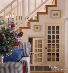 clever staircase storage