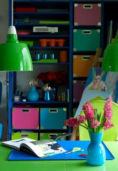 Colorful Apartment Design With Interior In Organized Chaos