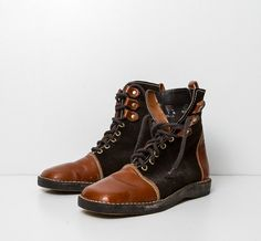 Vintage 1960s men's boots / brown leather and by @Stop the Clock Vintage