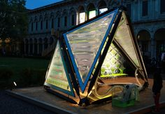 """The Urban Algae Canopy shows the power of """"algaetecture"""" for Milan Expo 2015   Prototype of the Urban Algae Canopy by ecoLogicStudio with Cesare Griffa. Photo courtesy of ecoLogicStudio   Archinect"""