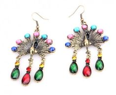 Peacock Gemstone Earrings  {Christine Purr Shoppe}