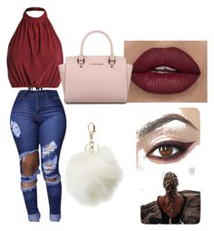 """"""""""" by giaai on Polyvore featuring Charlotte Russe and Michael Kors"""