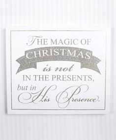 Look what I found on #zulily! White 'The Magic of Christmas...' Glitter Box Sign #zulilyfinds