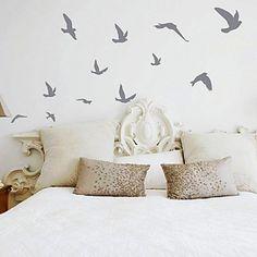 Adesivos Artísticos para Parede Revoada de Pássaros - EUR € 11.17