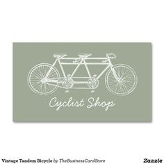 Vintage Tandem Bicycle Double-Sided Standard Business Cards (Pack Of 100)