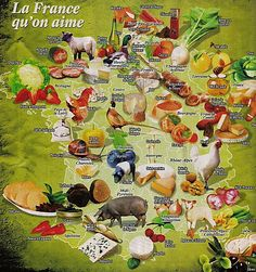 le patrimoine alimentaire Ap French, French Food, Learn French, Teaching French, French Souvenirs, Map Pictures, French Classroom, Thematic Units, Gastronomia