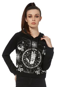 Occultist Hamsa Gothic Hoodie | RK Edge, Home of Psychobilly Fashion Clothing