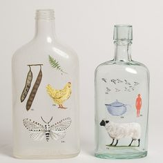 ★ L' Etoile | I'inspiration lovely painted bottles by Laura Normadin - http://www.lauranormandin.com