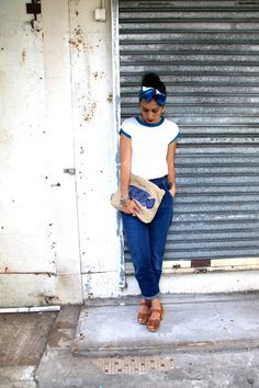 I'm a Norbyah: Double Louella, Double Take, with our Slouchy Pouch SS15