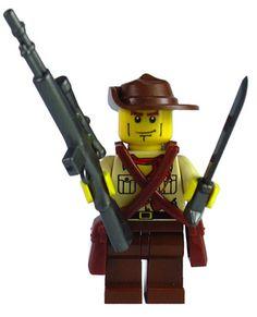 Custom Lego WW2 Military Soldier Minifigure Model Australian Coast Watcher Lego Soldiers, Lego Ww2, Lego Army, Lego Guns, Army Party, Military Soldier, Custom Lego, Cool Lego, Lego Creations
