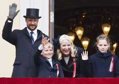 Norway's National Day Celebrations 2015 May 17 rown Prince Haakon of Norway and Crown Princess Mette-Marit of Norway with Princess Ingrid Alexandra and Prince Sverre Magnus