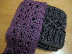 Diamond Scarves. Free crochet pattern