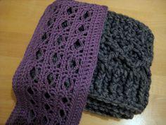 Diamond Scarves. Free crochet pattern