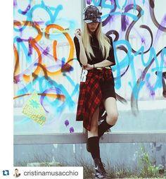 CRISTINA MUSACCHIO  #shopart #winter #outfit #camicia #madras#superwow