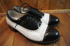 Footjoy-Black-White-8-Womens-Golf-Shoes