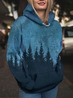 Printed Sweatshirts, Hoodies, Fall Winter, Autumn, Daily Style, Contents, Daily Fashion, Crew Neck, Printing