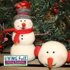 Needle Felting a Snow Man Kit - Needle Felted Snowman Kit | LIVING FELT