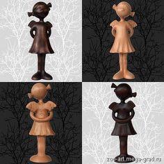 #angels #Souvenirs #wood #Miniatures #figurines. #ART Фигурка ангелов. День и ночь. Дерево. 21 см - Сувениры и подарки из дерева. Ручная работа., авторская статуэтка/маска для интерьера. МегаГрад - портал авторской ручной работы