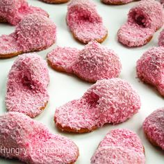 How to make pink fuzzy slipper cookies out of Nutter Butters... so perfect for a little girl's sleepover or spa party  : )