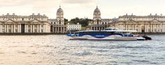 Home page for the fastest and most frequent fleet on the River Thames; providing River Bus services  and Thames river cruises for both London commuters and visitors.