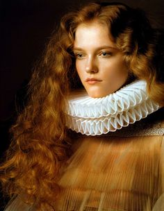 "Chinese Vogue, January 2007, ""Renaissance"". Photography by Pierluigi Maco. Not sure who did the hair."