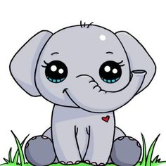 Elephant | Cute drawnings | Pinterest
