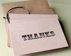 Thanks . Vintage Circus Sentiments KRAFT Note Card Set