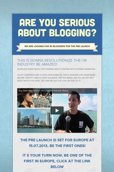 ARE YOU SERIOUS ABOUT BLOGGING?