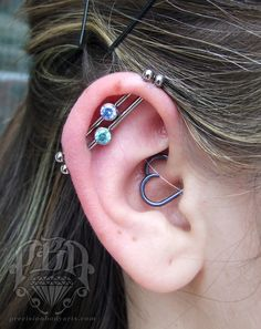 Double industrial and daith