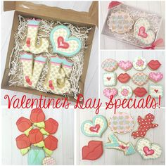 Valentine's Day specials and ordering instructions are up on my Facebook page!  Local orders only - no shipping. Pickup locations are in Garland and Arlington/Fort Worth area. #valentinesdaycookies #dfw #fortworth #customcookies #decoratedcookies by sugarbylyndsie