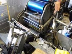 Letterpress 4 colour process printing pt1