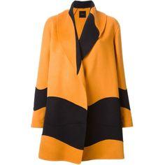 Agnona Oversized Panelled Coat (€3.615) ❤ liked on Polyvore featuring outerwear, coats, jackets, abrigos, coats & jackets, oversized coat, wool cashmere coat, cashmere coats, orange coat and agnona
