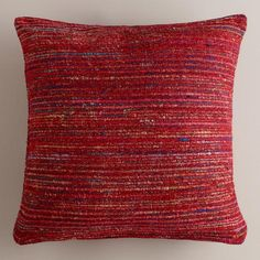 One of my favorite discoveries at WorldMarket.com: Berry Recycled Silk Sari Pillow-Aarron would like