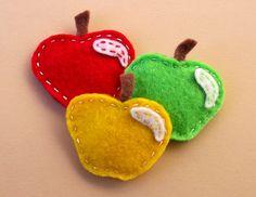 green yellow red apple felties