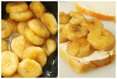 Caramelized Banana & Cream Cheese Stuffed FrenchToast