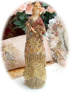 Victorian Tassel Doll Large-victorian, doll, opulent, tassel, elegant, beaded,